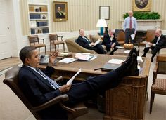 Shoes on the Table 5 Really good photo showing his disdain  lack of respect, what a loser, are you folks out there in Pinterest land getting the point here?  Worst president EVER  the LAZIEST!!!  LOSER!  Poor manners too...