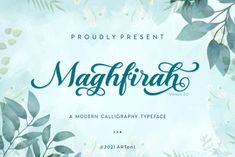 Maghfirah is a dazzling script font. This font is neatly crafted and highly detailed. Whatever the topic, this font will... Calligraphy Fonts, Script Fonts, Modern Calligraphy, Wedding Script, Crafts, Products, Manualidades, Handmade Crafts, Craft