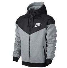 Nike Windrunner Fleece Mix - Men's from Foot Locker. Shop more products from Foot Locker on Wanelo. Nike Clothes Mens, Nike Windrunner, Nike Outfits, Nike Jacket, Hooded Jacket, Mens Fashion, Sweaters, How To Wear, Jackets