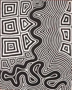 An image of Untitled (Tingari motifs and snake) by Ronnie Tjampitjinpa