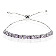Sterling Silver Gemstone Adjustable Pull String Bracelet -- Check out the image by visiting the link.