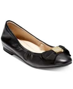 Metallic hardware and a furled bow dress up the understated design of Cole Haan's Tali Bow ballet flats with an air of sophistication. Black Ballet Flats, Leather Ballet Flats, Ballerina Flats, Flat Shoes, Bow Flats, Cole Haan Shoes, Pumps Heels, Black 7, Nordstrom