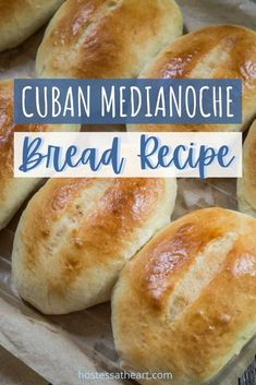 Try out this Cuban Medianoche Bread recipe, to make the best sweet, eggy bread that's the perfect compliment to the sandwich ingredients. | HostessAtHeart.com #bread, #breadrecipes, #homemadebread #baking Cuban Recipes, Bread Recipes, Baking Recipes, Spanish Recipes, Medianoche Bread Recipe, Puerto Rican Bread Recipe, Baking Center, Cuban Bread, Food Dishes