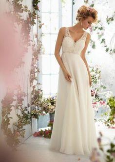 New White Ivory Beading Bridal Gown Wedding Dress