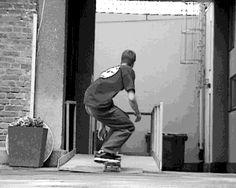 Jake Johnson utilizing Pontus Alv's DIY mobile pole jam from his Weapon Skate film.