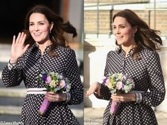 Duchess Catherine wore a new dress from Kate Spade for her visit to The Foundling Museum, November 28, 2017