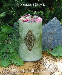 Goddess Grove . Herbal Alchemy Candles . Queen of the Forest, Divine Feminine, Change, Guidance, Animals, Great Mother on Etsy, $13.95