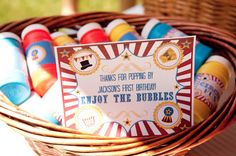 Jackson's First Birthday - Carnival, Circus, Party Favors