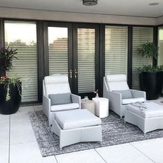 Looking forward to getting the real photos from this shoot 📸 I love these outdoor recliners! Home Design Blogs, Rustic Home Design, Modern Outdoor Living, Outdoor Cushions And Pillows, Outdoor Garden Decor, Modern Pools, Mid Century Modern Design, Furniture Layout, People Sitting