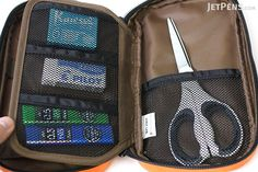 Lihit Lab Teffa Pen Case - Book Style - Orange - LIHIT LAB A-7551-4