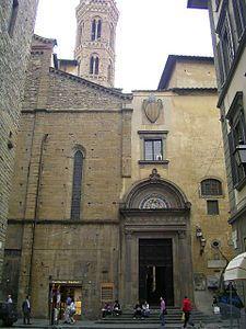 Badia Fiorentina  - entrata su Via del Proconsolo. Firenze
