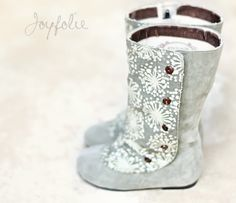 Boots...adorable! Wish they came in my size!