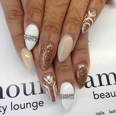 nude white and gold!