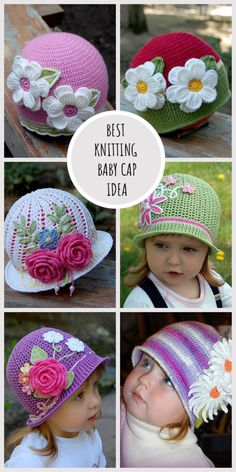 Best Knitting Baby Cap Idea #knitting #knitted #knit #crochet #crochetaddict #crochettutorial