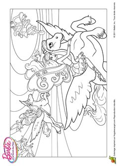 Dessin de majectic le cheval de barbie avec sa m daille de champion colorier coloring - Chevaux barbie ...