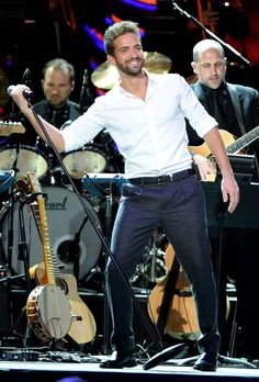 Pablo Alboran performs onstage during the 2014 Person of the Year honoring Joan Manuel Serrat at the Mandalay Bay Events Center on November 19, 2014 in Las Vegas, Nevada.