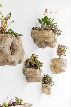 Design végétal - martinjulie.com - Wedding Plant – Mineral 2 , hypertufa, rochers, succulentes, plantes d'intérieur, mur végétalisé et jardin intérieur.