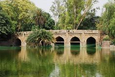 Athpula bridge at Lodi Garden in Delhi
