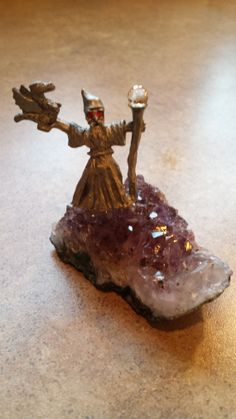 Spoontiques Wizard on Amethyst by 3LittleWitches on Etsy, $20.00