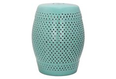 Eira Ceramic Garden Stool, Aqua on OneKingsLane.com