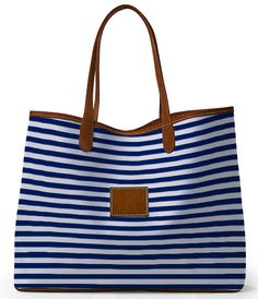 Loving this striped tote - choose from your choice of colors  patterns - over 4000 combinations! http://rstyle.me/n/hsvqenyg6
