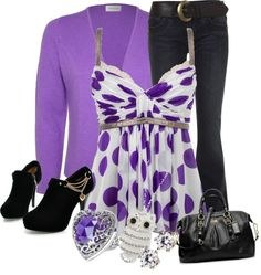 """Purple :)"" by tanisha500 ❤ liked on Polyvore"
