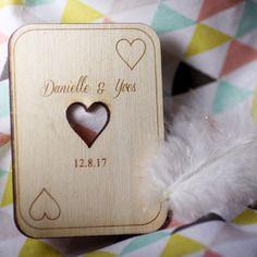 X50 save the date as de coeur jeu de cartes las vegas faire part de mariage magnet aimanté a offrir