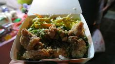Fried chicken with soy bean sauce and garlic - Shilin Night Market Taipei Taiwan