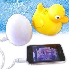 waterproof radio and wireless speaker = fun tubby time