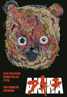 wylderart: Made a poster for the screening of Akira at the film club! I've been working hard on the pre-show for this weeks screening as well, and its gonna be accompanied by a live Gamelan performance. Undoubtedly it'll be a pretty cool shindig, so Manga Art, Manga Anime, Anime Art, Akira Anime Movie, Akira Manga, Akira Film, Akira Poster, Chicano, Cyberpunk