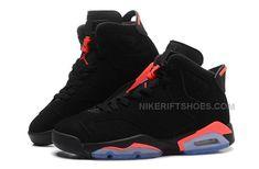 """2014 Air Jordan 6 (VI) Retro """"Black Infrared"""" Black/Black-Infrared For Sale"""