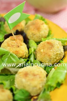 Blog di cucina di Aria: Polpette di fagioli cannellini e basilico al forno