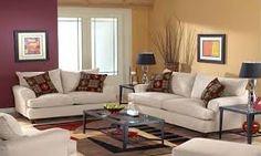 Resultado de imagen para Como pintar las paredes del vivir combinados con muebles blancos