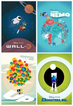 Laz Marquez's stunning new Pixar poster series