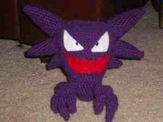 2000 Free Amigurumi Patterns: Haunter: Pokemon Amigurumi pattern