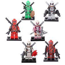 Deadpool Gwenpool Red Deadpool Super 6 Mini figures Building Bricks Toys lEGO Lego Deadpool, G Man, Bricks, Toys, Mini, Red, Building, Activity Toys, Brick