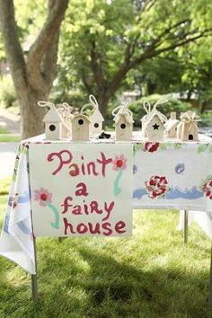 Paint a fairy house: fairy party activity