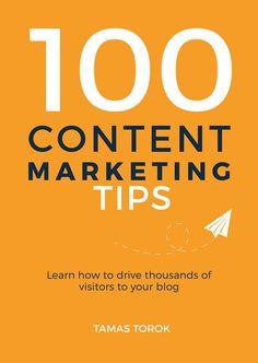 Minimalist book cover. Simply orange cover design. Content marketing book design. http://contentmarketingtip.com/
