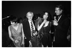 The Gang of Four at Studio 54 (Liza Minnelli, Andy Warhol, Bianca Jagger, and Halston), 1978. Photo by Christopher Makos.