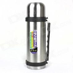 Brand: N/A; Model: N/A; Quantity: 1 piece(s) per pack; Color: Silver + Black; Material: Stainless steel; Capacity: 1.5L; Diameter: 54 cm; Height: 31 cm; Specification: Stainless steel sports bottle outdoor excursions essential 1.5L, holding temperature 12 hours or so; Packing List: 1 x Bottle1 x Bottle stopper1 x Hand rope1 x Lid; http://j.mp/1BC8gco