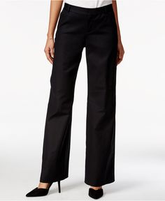 Polish your work look in jet black fashion. These Solid Wide-Leg Pants will be the talk of the office, especially when paired with black heels. Take a break from your usual skinnies and try these trendy wide-leg closet staples.