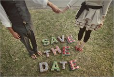 "A creative take on ""Save the Date"""