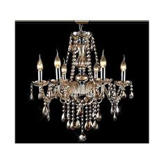 40W Modern/Contemporary / Traditional/Classic / Vintage Crystal Electroplated Glass ChandeliersLiving Room / Bedroom / Dining Room /