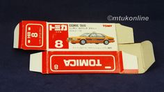 TOMICA 008D NISSAN CEDRIC Y31 TAXI | 1/62 | ORIGINAL BOX ONLY | 1988 JAPAN