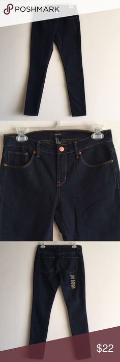 "NWT Dark Wash Skinny High Rise F21 Stretchy Jeans A pair of stretch-denim skinny jeans featuring a 9"" rise high waist, classic five pocket design and a zip fly closure. Their labeled ankle, but that's my normal length at 5'4. 29"" inseam Forever 21 Jeans Skinny"
