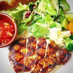 Harbs brand pork loin steak ハーブ三元豚ロースステーキ  #instagram #meat #pork #steak #canadian #harbs #loin #grill #healthyfood #dietfood #organicfood #cooking #foodgasm #foodpics #foodporn #foodie #delicious #yummy #lowfat #lowcarb #lowcalorie #protein #salad #tomato #lunch #tokyo #肉 #ステーキ #ランチ