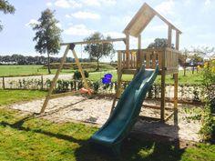 Speeltoestel kinderen tuin #tenax houtbewerking www.tuinhuisje.nu