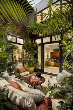 Bringing the outdoors in with lots of plants!