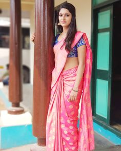 Traditional saree look ❤❤ . DM for paid promotion frame 👉 ayesha . Send your pics. Indian Actress Images, Indian Girls Images, Beautiful Indian Actress, Beautiful Actresses, Beautiful Suit, Beautiful Saree, Hottest Tv Actresses, Tamil Girls, Saree Look