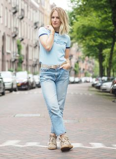 My favorite mashup: cool girl shirt and vintage-esque denim. Girls Jeans, Shirts For Girls, Cool Girl, Archive, Denim, Pants, Vintage, Fashion, Fashion Styles